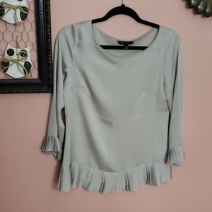 Silver banana republic blouse with pleats
